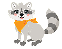 GSNorcal Camp Mascot Redesigned: Roxy the Raccoon