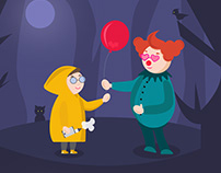 "Illustrations for the film ""IT"""