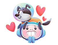 Google Allo - Stickers - Alex & Cosmo