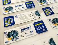 Blueberry picking festival ticket design