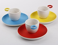 Espress-o cup and saucer set