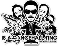 Jamaica dancehall artists vectors illustrator