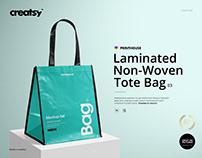 Laminated Non-Woven Tote Bag 03 Mockup Set