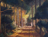 Oil Paintings - Forest views