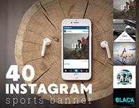 40 Instagram sports banner