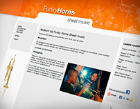 Funkyhorns-Sheetmusic.nl - webdesign
