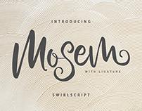Mosem Swirl Script Font
