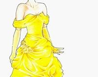 Disney Inspired Fashion Sketches