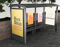 Poster on Bus Stop Mockups