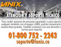 Grafica creativa Web para Lanix Colombia