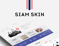 "Landing page ""Siam Skin"""