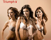 "Triumph Advert Campaign "" Body Make up"