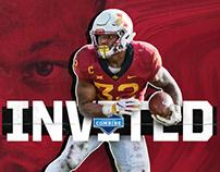 2019 Iowa State NFL Combine Invite graphics