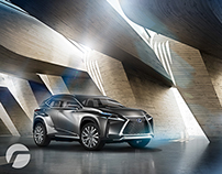 Lexus 600A Concept Car Set Design