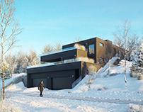 CGI: Residential building in Switzerland