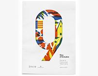 Diseño de los 4 carteles que conmemoran el 9 d'Octubre
