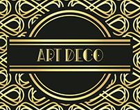 Tipografia/fonte Art Deco e cartazes