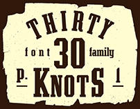 30 Knots Font Family (p.1) Regular | Outlined | Shadow