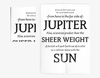 Elerium, an upright italic typeface