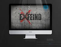 EXFEIND • THE LOGO • v1 DARK EDITION • Free Wallpaper