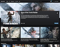 GameOver Web Design UI/UX