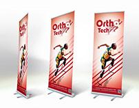 ORTHOTECH - logo - flyer - brochure - rollup