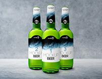 Bottle Beer – Free PSD MockUp