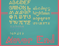 NEVER END typeface