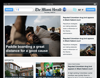 Miami Herald Ipad app design