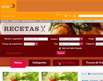 Terra.com Recetas channel design