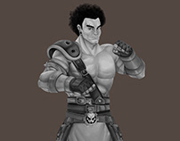 mad steel brawler character design