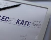 Alec & Kate Wedding Graphics