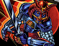 Robot Samurai Album Cover Illustration