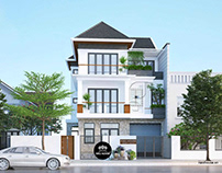 Mẫu biệt thự phố đẹp 3 tầng hiện đại tại Tphcm
