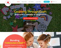 Kids Website Template Design By Nexstair