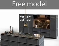 Free model Kitchen Snaidero Frame