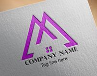 M Letter logo Real Estate Business Logo Home Logo etc