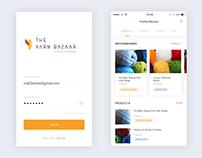 iOS App for the Yarn Bazaar.