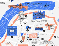 Avignon illustrated map // MyCuisine