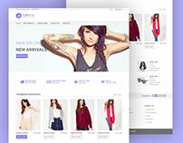 Sakirra- simple eCommarce PSD design template