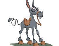Crazy donkey illustration
