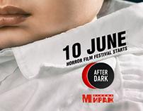 Posters for horror film festival