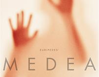 Poster design for Clemson Player's 'Medea'
