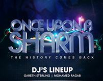 "Once Upon a Sharm Flyer Design ""Space Sharm"""