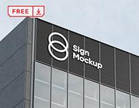 Free Building Sign Mockup