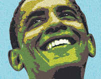 Portrait of OBAMA
