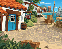 Background Paintings for 3-CISD