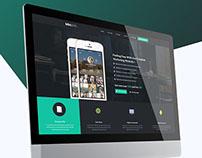 MMAPP | Mobile App Landing PSD Theme