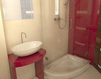 Magenta bathroom