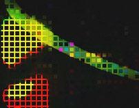 Visuals + Floor projections for GitterStar event